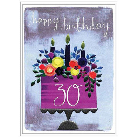 30th Happy Birthday Card - insideout-home