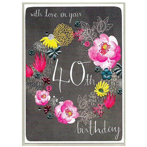 40th Love On Your Birthday Card - insideout-home