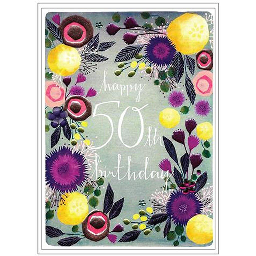 50th Happy Birthday Card by  Insideout
