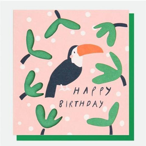 Toucan Birthday Card - insideout-home