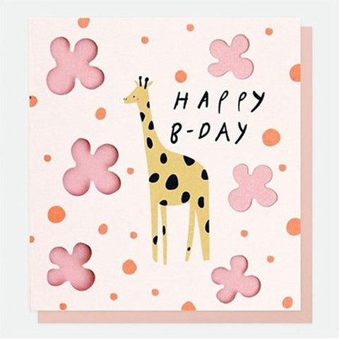 Giraffe Birthday Card - insideout-home