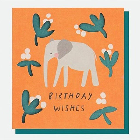 Elephant Birthday Card - insideout-home