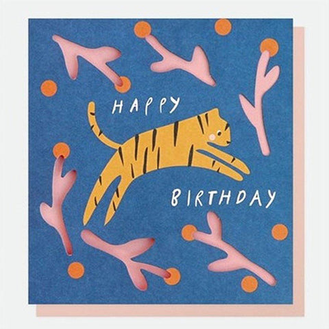 Tiger Birthday Card - insideout-home