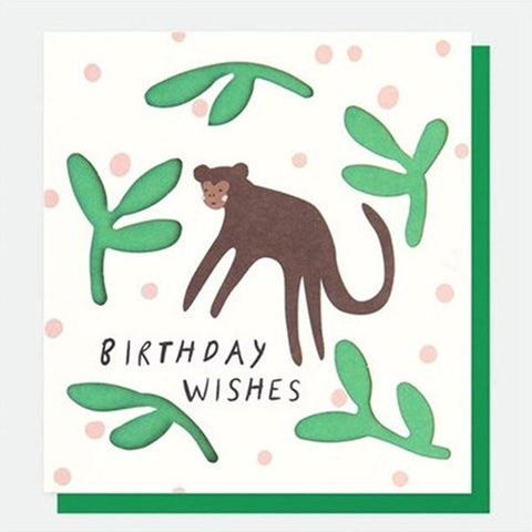Monkey Birthday Card - insideout-home
