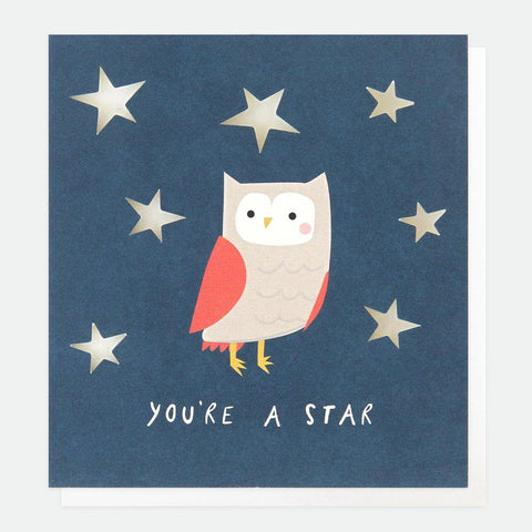 You're A Star Owl Card - insideout-home