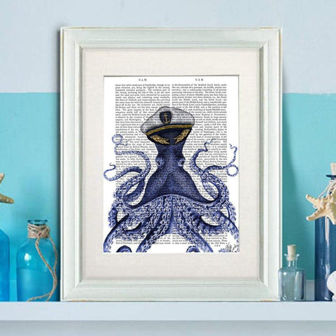 Captain Octopus Print - insideout-home