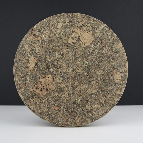 Cork Round Trivet Ice Grey - insideout-home