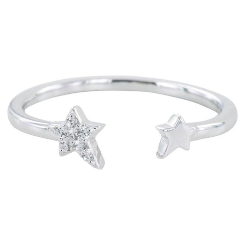 Sterling Silver Starry Night Pavé Ring - insideout-home