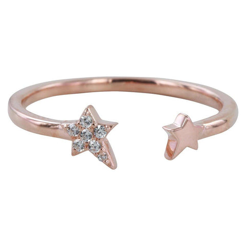 Rose Vermeil Starry Night Pavé Ring - insideout-home