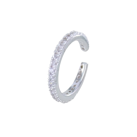 Single Sterling Silver Pavé Ear Cuff - insideout-home