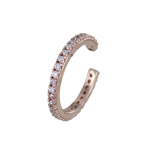 Single Rose Gold Pavé Ear Cuff - insideout-home