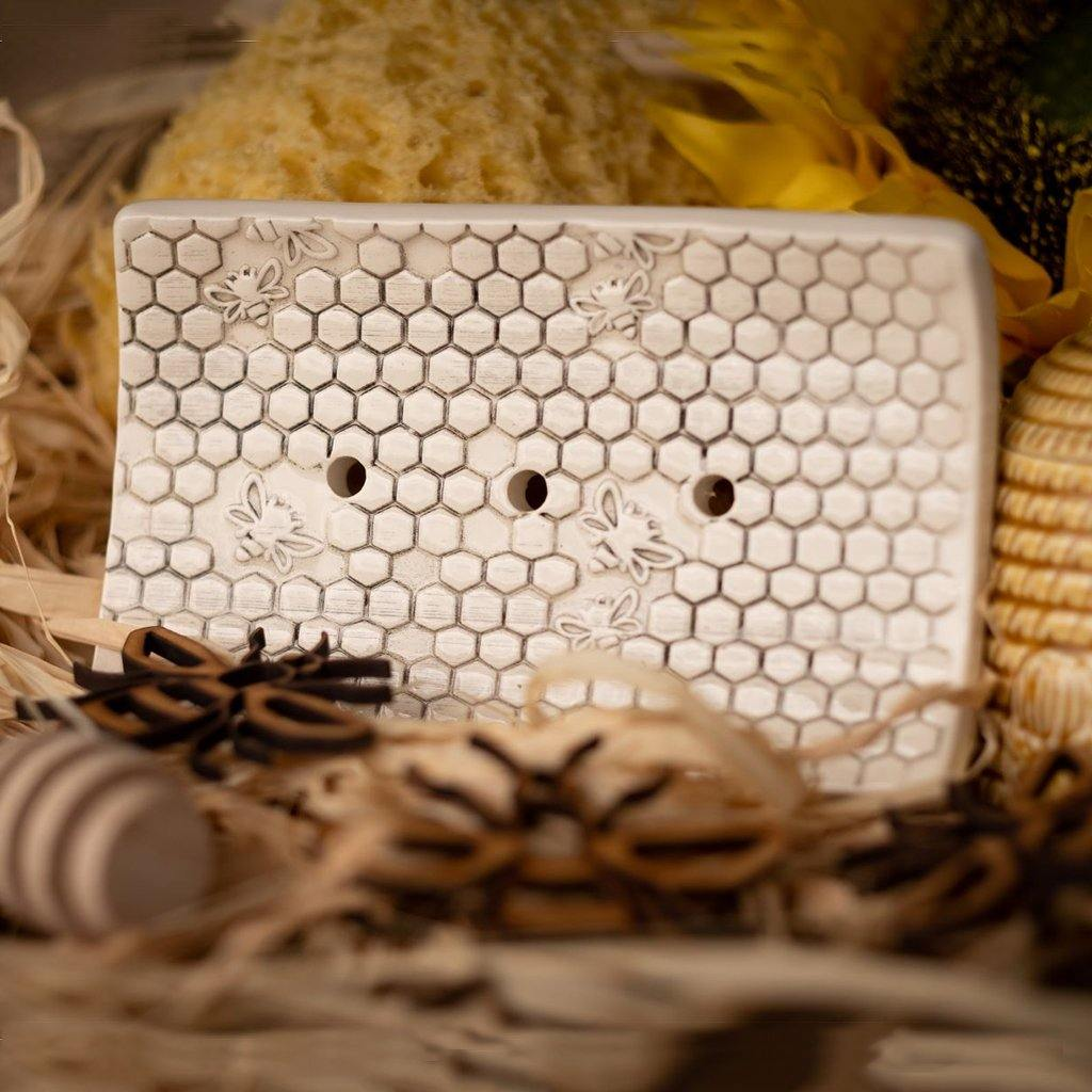 Rectangular Soap Dish - Honeycomb by  Insideout