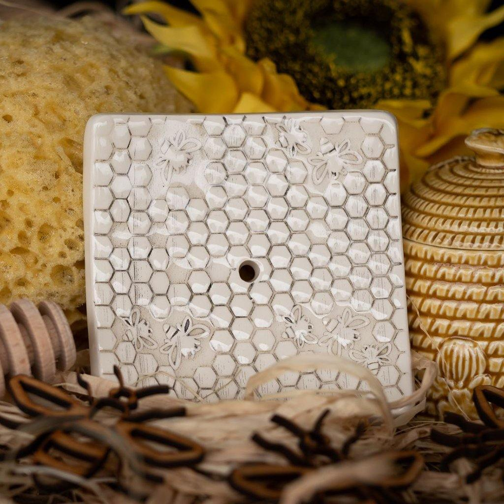 Square Soap Dish - Honeycomb by  Insideout