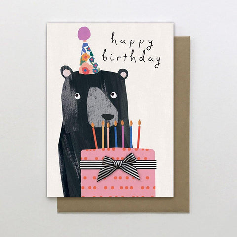 Bear With Cake Card - insideout-home