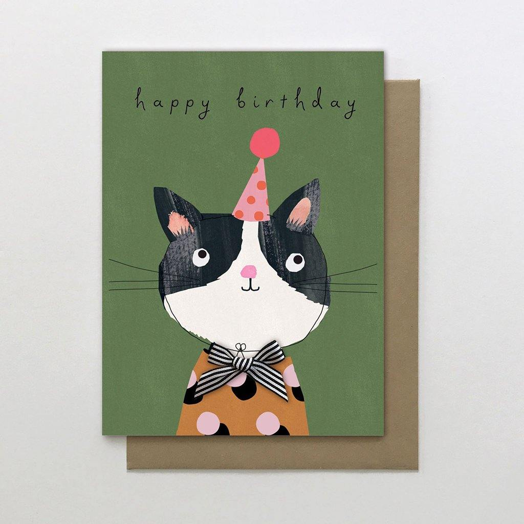 Birthday Cat Card by  Insideout