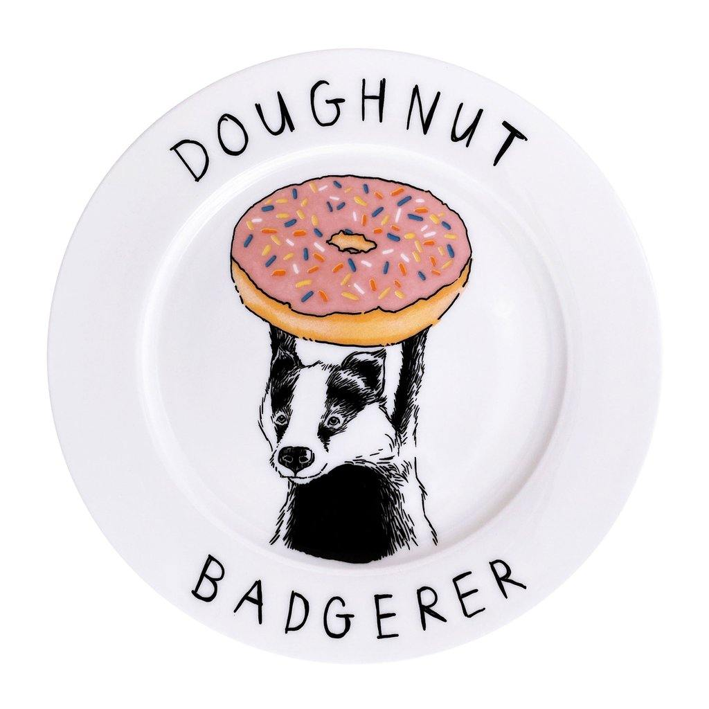 The Donut Badgerer Side Plate, Food Service by Insideout