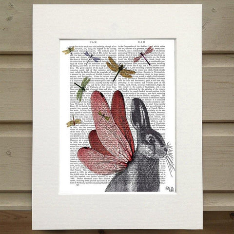 Dragonfly Hare Print - insideout-home