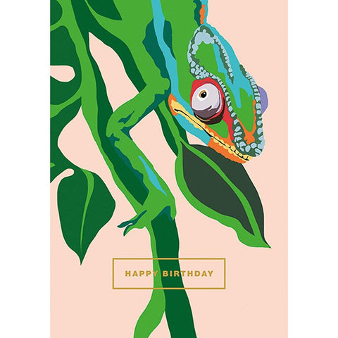 Happy Birthday Chameleon Card - insideout-home