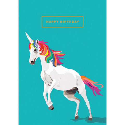 Happy Birthday Unicorn Card - insideout-home