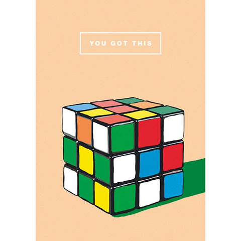 You Got This Rubiks Cube Card - insideout-home