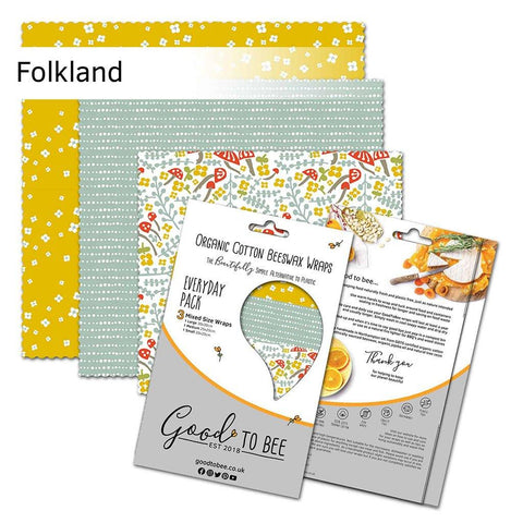 Organic Beeswax Reusable Food Wrap Pack Folkland - insideout-home