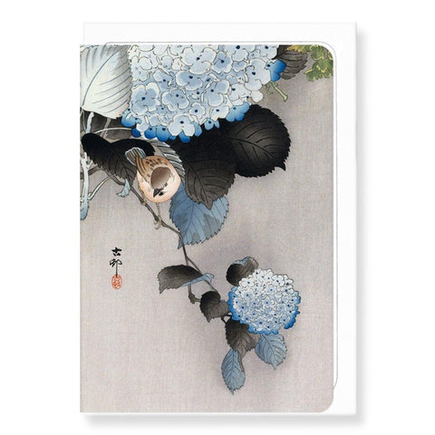 Sparrow Hortensia By Koson Card - insideout-home
