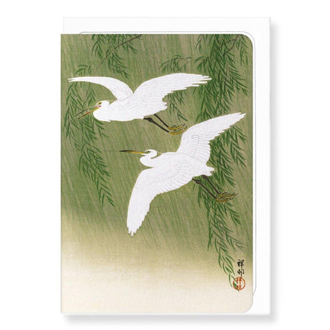 Egrets And Willow By Koson Card - insideout-home