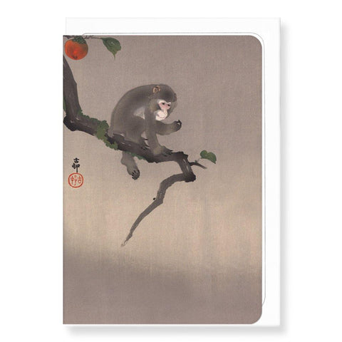 Monkey And Persimmon Fruit By Koson - insideout-home