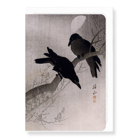 Crows At Night Card - insideout-home