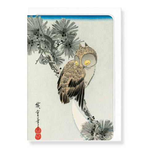 Owl By Hiroshige Card - insideout-home