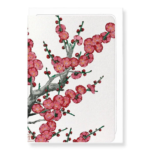 Red Plum Blossom Card - insideout-home