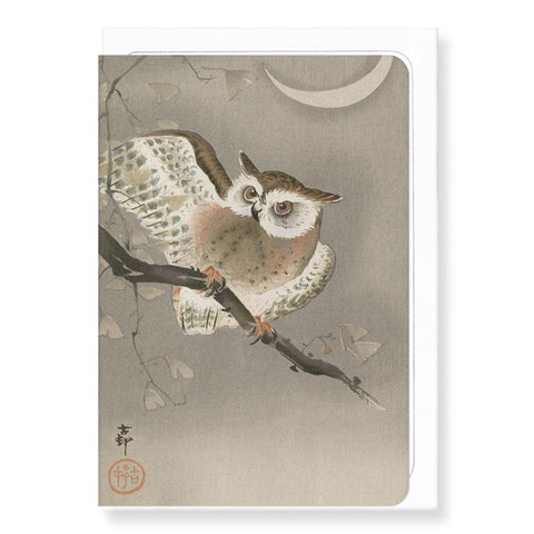 Long-Eared Owl By Koson Card - insideout-home