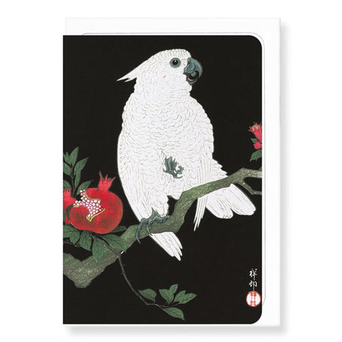 Cockatoo And Pomegranate By Koson Card - insideout-home