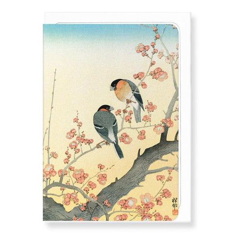 Bullfinches On Flowering Plum Tree By Koson - insideout-home