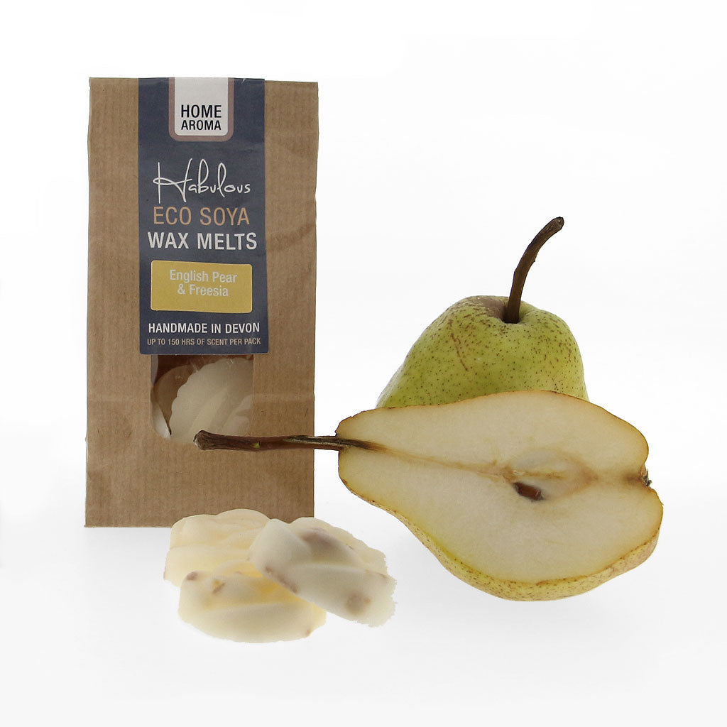 English Pear & Freesia Eco Soya Wax Melts Pack, Raw Candle Wax by Insideout
