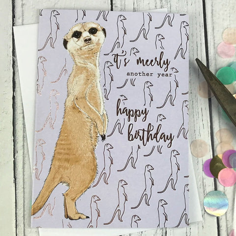 FA12 It's meerly another year happy birthday card - insideout-home