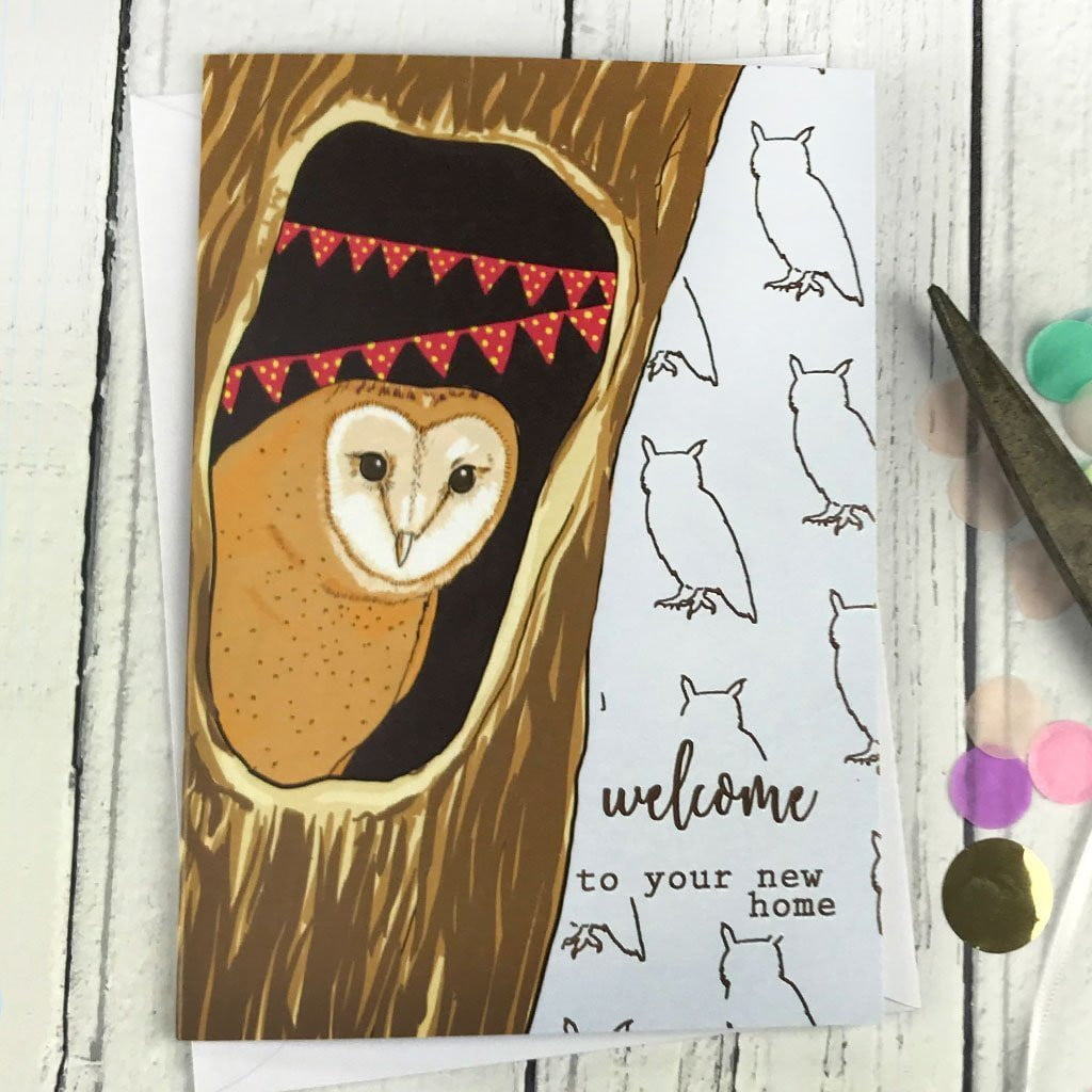 FA131 Welcome to your new home card, Party & Celebration by Insideout