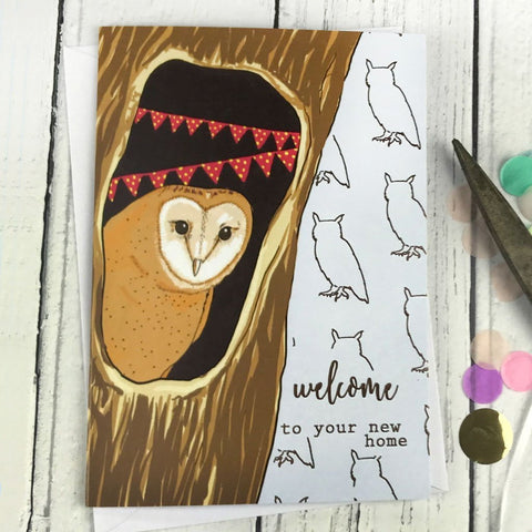 FA131 Welcome to your new home card - insideout-home