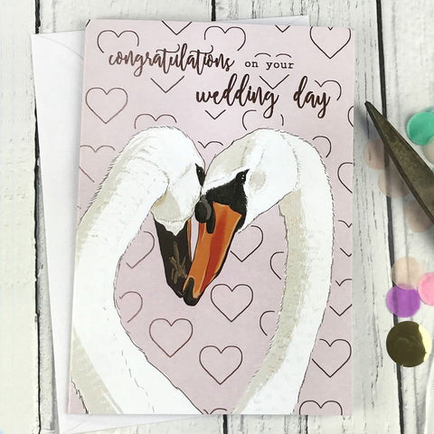FA141 Congratulations on your wedding day card - insideout-home
