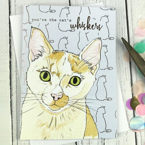 You're the cat's whiskers card
