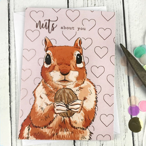 FA156 Nuts about you card - insideout-home