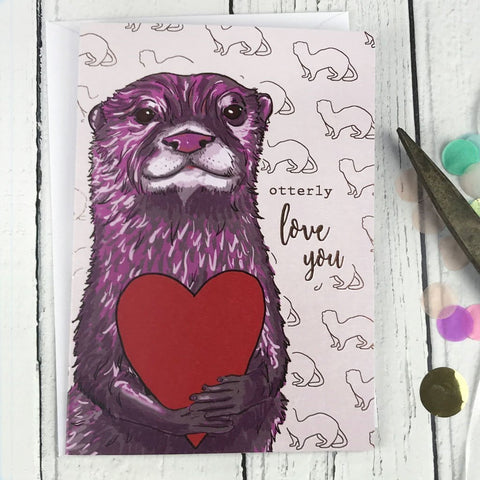 Otterly love you card