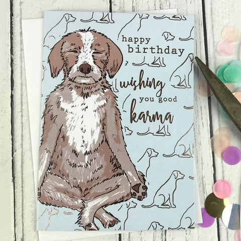 Happy birthday wishing you good karma card