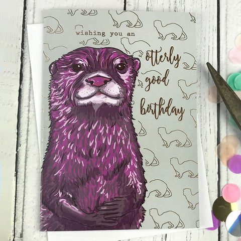FA20 Wishing you and otterly good birthday card - insideout-home