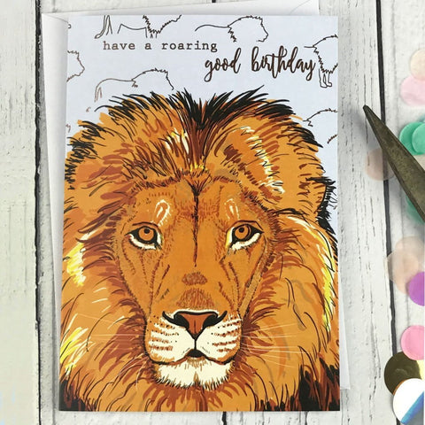 FA22 Have a roaring good birthday card - insideout-home