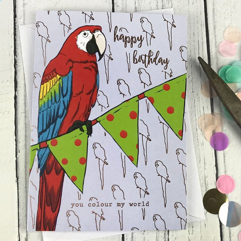FA28 Happy birthday you colour my world card - insideout-home