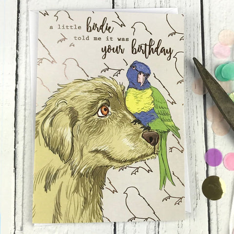 FA31 A little birdie told me it was your birthday card - insideout-home