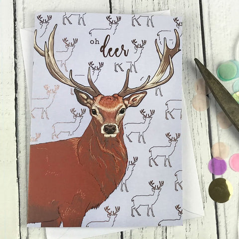 FA38 Oh deer card - insideout-home
