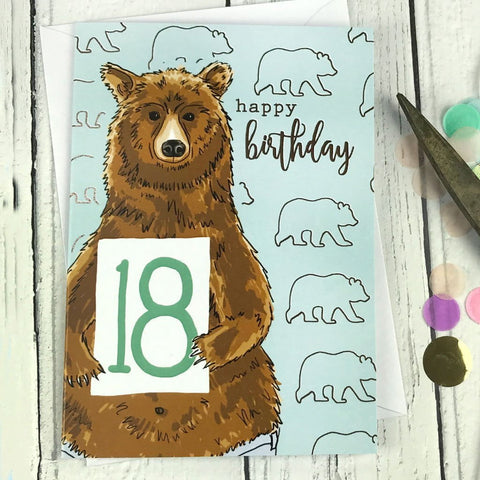 FA80 Happy birthday 18 card - insideout-home
