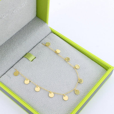Short Dotty Necklace Gold Vermeil - insideout-home